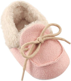 Luvable Friends Pink Cozy Fleece Moccasin - Girls