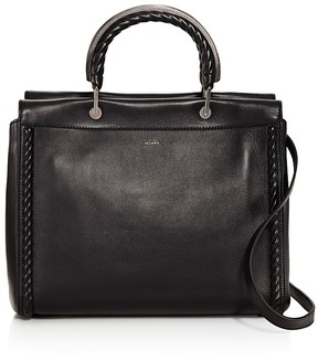 Max Mara Braided Trim Leather Satchel