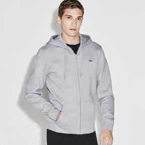 Lacoste Men's Sport Hooded Zippered Back Print Tennis Sweatshirt