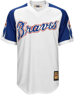 Majestic Men's Atlanta Braves Cooperstown Blank Replica Cb Jersey