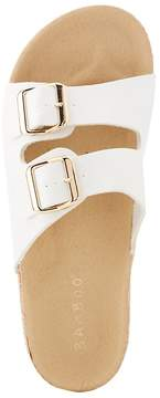 Charlotte Russe Bamboo Double Strap Buckle-Detailed Slides