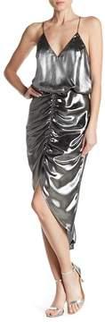 ABS by Allen Schwartz Lames Blouson Metallic Dress