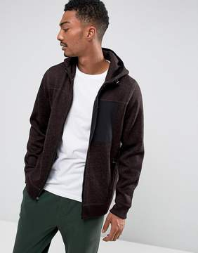 Abercrombie & Fitch Zipfront Hoodie Sports Fleece in Red