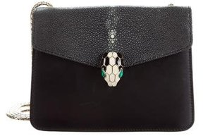Bvlgari Small Galuchat Serpenti Flap Bag