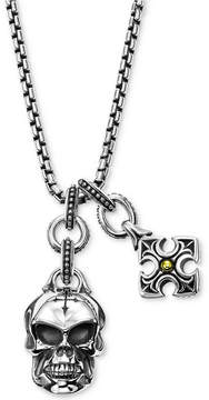 Scott Kay Men's Multi-Charm Pendant Necklace in Sterling Silver & 18k Gold