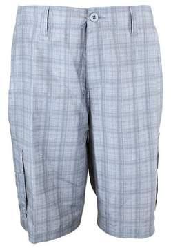 Burnside Men's Plaid Hybrid Cargo Shorts
