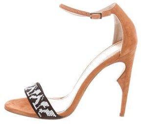 Jerome C. Rousseau Malibu Bead Embellished Sandals w/ Tags