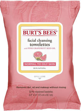 Burt's Bees Facial Cleansing Towelettes Pink Grapefruit