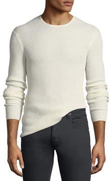John Varvatos Waffle-Knit Crewneck Sweater