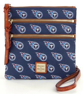 Dooney & Bourke NFL Collection Tennessee Titans Triple-Zip Cross-Body Bag - NAVY - STYLE