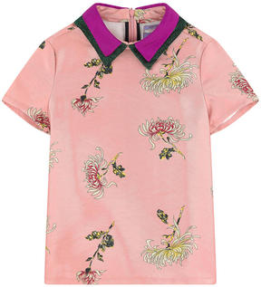 Scotch & Soda Printed top with layered collars
