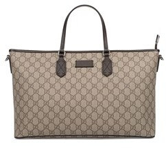 Gucci Women's Beige/brown Fabric Tote. - BROWN - STYLE