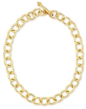 Elizabeth Locke Hammered 19k Volterra Link Necklace, 17L