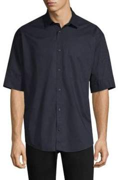 HUGO Eynoid Cotton Short-Sleeve Button-Down Shirt