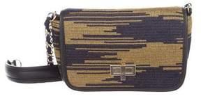 M Missoni Leather-Trimmed Knit Crossbody Bag