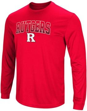 Colosseum Men's Campus Heritage Rutgers Scarlet Knights Gradient Long-Sleeve Tee