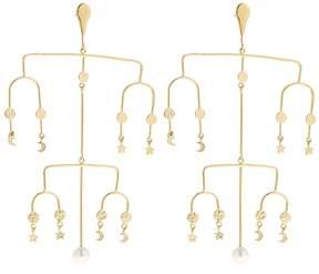 Aurelie Bidermann Siroco Moon & Stars Earrings