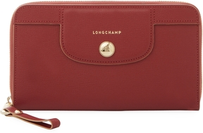 Longchamp Women's Le Pliage Heritage Leather Zip Around Long Wallet