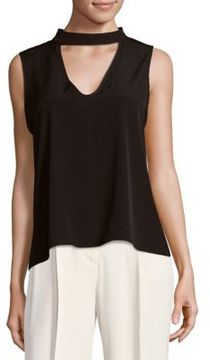 Saks Fifth Avenue BLACK Sleeveless Choker Top