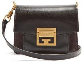 Givenchy Gv3 Mini Suede And Leather Cross Body Bag - Womens - Black Grey