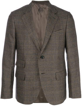 Caruso formal check blazer