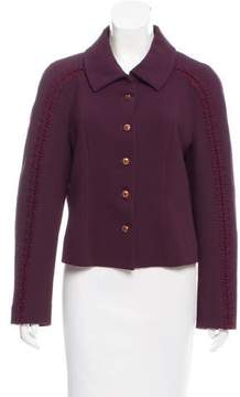 Christian Lacroix Embroidered Button-Up Blazer