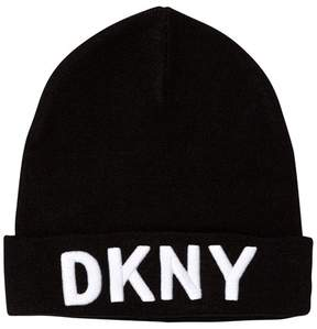 DKNY Black Branded Unisex Beanie