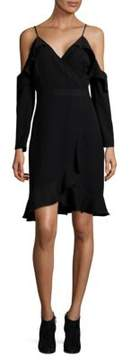 Collective Concepts Ruffle Cold Shoulder Dress