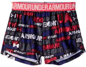 Under Armour Kids Wordmark Block Play Up Shorts Girl's Shorts