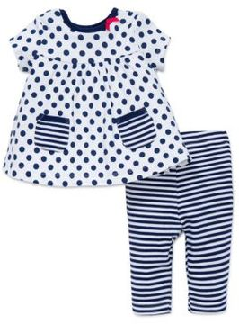 Offspring Baby's Polka Dot Dress and Leggings Set