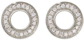 Bony Levy 18K White Gold Diamond Circle Earrings - 0.10 ctw