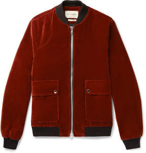 Oliver Spencer Bermondsey Cotton-Velvet Bomber Jacket