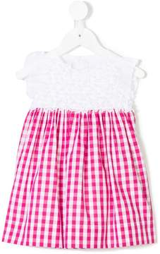 Il Gufo checked frilled dress