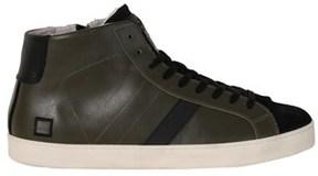 D.A.T.E Men's Green Leather Hi Top Sneakers.