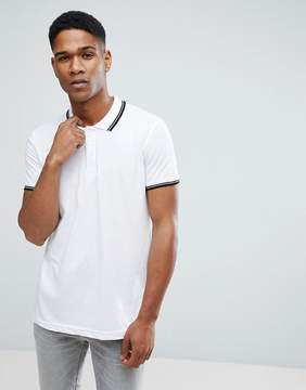 Brave Soul Pique Tipped polo