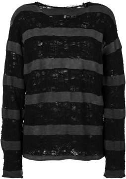 RtA distressed striped jumper