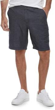 Marc Anthony Men's Slim-Fit Plaid Linen-Blend Shorts