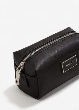 MANGO Saffiano-effect cosmetic bag