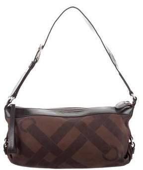 Lancel Leather-Trimmed Shoulder Bag