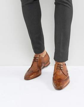 Jeffery West Escobar Brogue Shoes In Tan