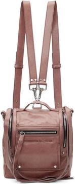 McQ Pink Mini Convertible Box Backpack