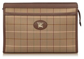 Burberry Pre-owned: Plaid Jacquard Clutch Bag. - BROWN X MULTI - STYLE