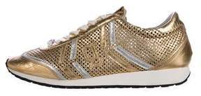 John Galliano Metallic Perforated Sneakers
