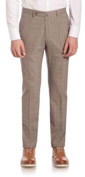 SLOWEAR Checked Wool Pants