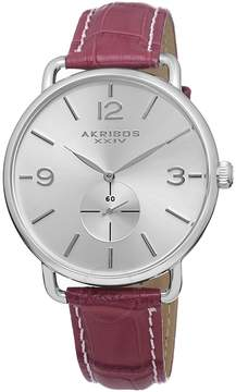 Akribos XXIV Silvertone Ladies Watch AK658BUR