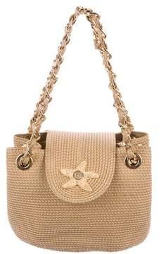 Eric Javits Embellished Straw Handle Bag