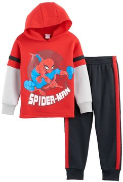 Marvel Toddler Boy Spider-Man Mock-Layer Hoodie & Jogger Pants Set