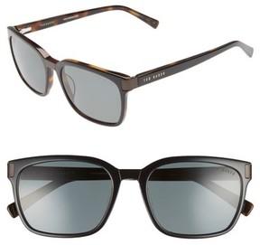 Ted Baker Men's 56Mm Polarized Square Sunglasses - Black