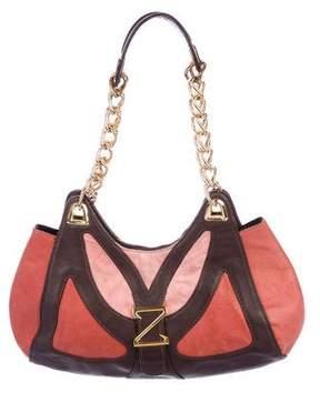 Zac Posen Leather & Suede Shoulder Bag
