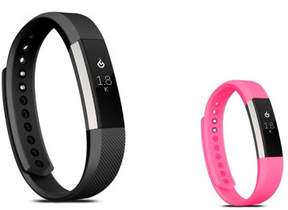 Fitbit Alta HR and Alta Replacement Bands LARGE Size 2 PCS BUNDLE SET, by Zodaca Soft TPU Rubber Adjustable Wristbands Watch Band Strap For Alta HR / Alta LARGE Size - Black + Hot Pink